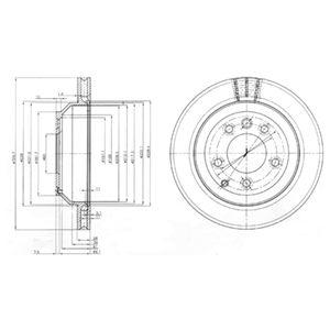 DELPHI Brake Disc BG3775