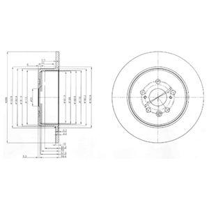 DELPHI Brake Disc BG3777