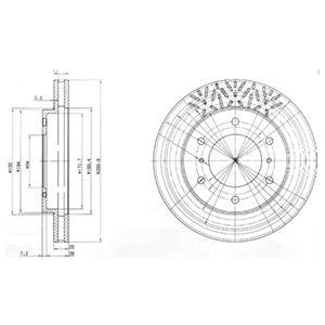 DELPHI Brake Disc BG3812