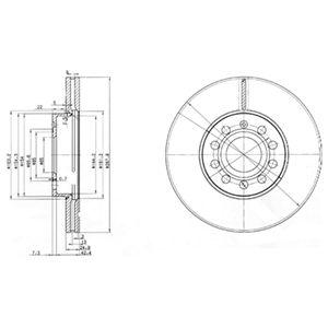 DELPHI Brake Disc BG3833