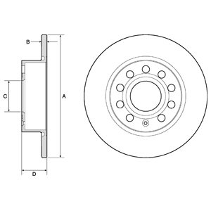 DELPHI Brake Disc BG3834C