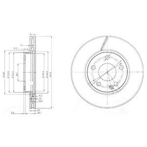 DELPHI Brake Disc BG3845