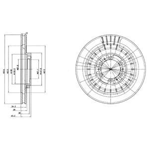 DELPHI Brake Disc BG3847