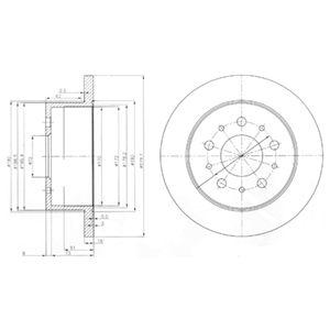 DELPHI Brake Disc BG3853