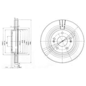 DELPHI Brake Disc BG3860