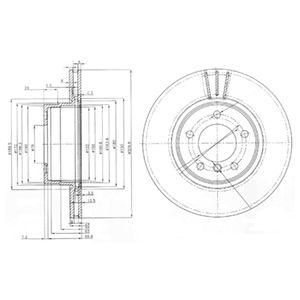 DELPHI Brake Disc BG3870