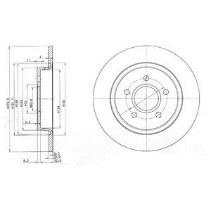DELPHI Brake Disc BG3897C