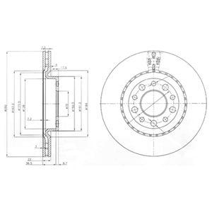 DELPHI Brake Disc BG3995