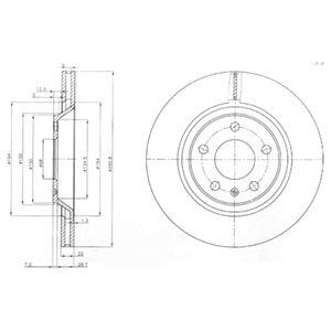DELPHI Brake Disc BG3997