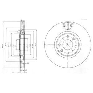 DELPHI Brake Disc BG4002