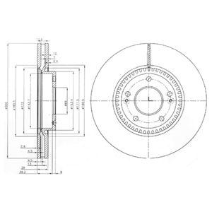 DELPHI Brake Disc BG4011