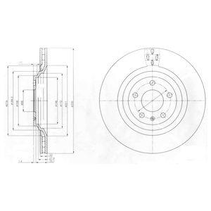 DELPHI Brake Disc BG4087