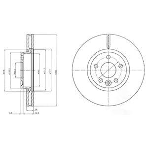 DELPHI Brake Disc BG4094