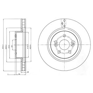 DELPHI Brake Disc BG4111