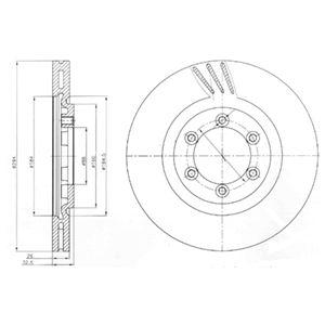 DELPHI Brake Disc BG4112