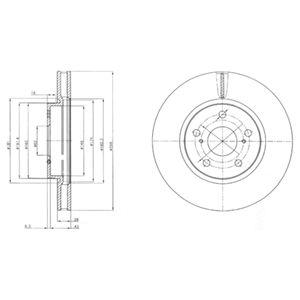 DELPHI Brake Disc BG4139