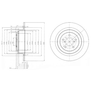 DELPHI Brake Disc BG4154