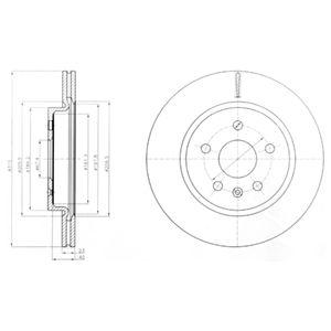 DELPHI Brake Disc BG4190