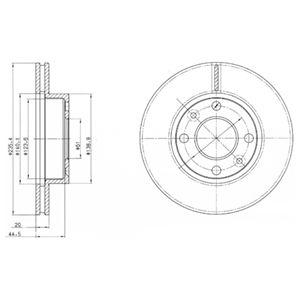 DELPHI Brake Disc BG4195