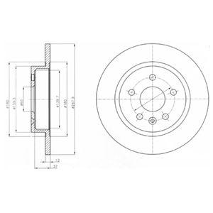 DELPHI Brake Disc BG4199