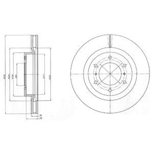 DELPHI Brake Disc BG4228
