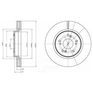 DELPHI Brake Disc BG4250