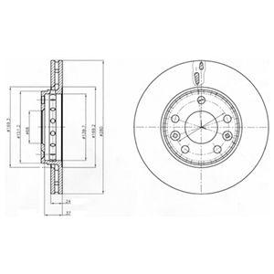 DELPHI Brake Disc BG4265