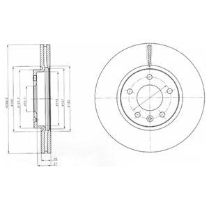 DELPHI Brake Disc BG4278