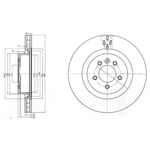 DELPHI Brake Disc BG9007
