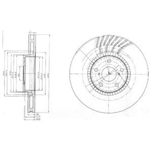 DELPHI Brake Disc BG9012