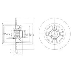 DELPHI Brake Disc BG9029RS