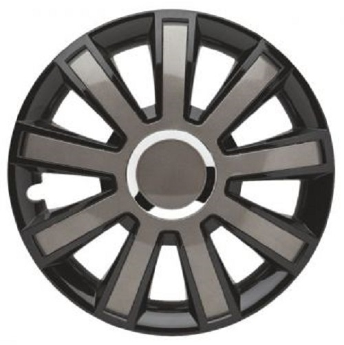 ALBRECHT Radzierblende Radkappe FLASH VIII Plus 15 Zoll 1 Stück Silber/Schwarz 49405
