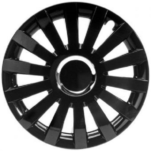 ALBRECHT Radzierblende Radkappe SAIL BLACK Plus 15 Zoll 1 Stück Schwarz Premium Design 49235