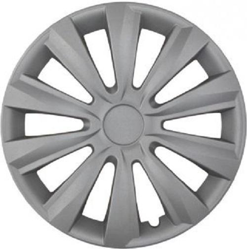 ALBRECHT Wheel cover hub cap DELTA 14 inch 1 piece Silver City-Line 241541
