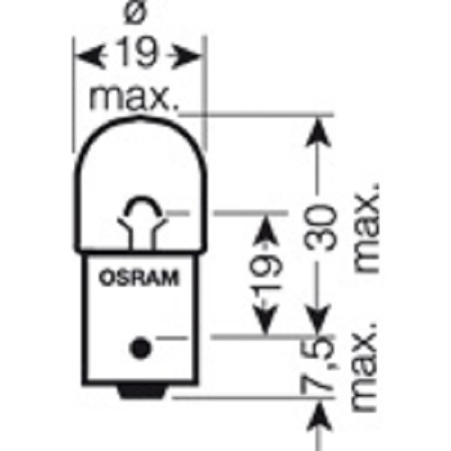 CARTECHNIC Metallsockellampe Glühbirne Glühlampe R5W 24 Volt 5 Watt BA15S 40 27289 00068 8