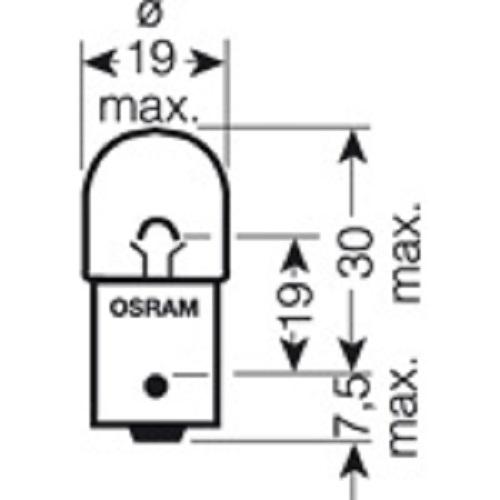 CARTECHNIC Metallsockellampe Glühbirne Glühlampe R10W 10 Watt 24 Volt BA15s 40 27289 00067 1
