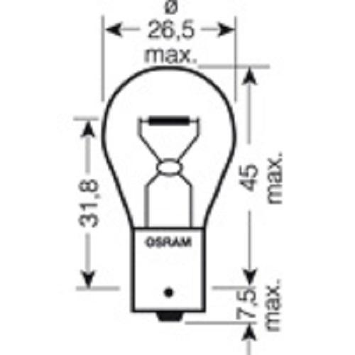 CARTECHNIC Metallsockellampe Glühbirne Glühlampe P21W 24 Volt 21 Watt BA15s 40 27289 00066 4