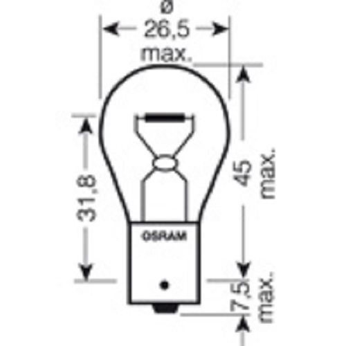 CARTECHNIC Metallsockellampe Glühbirne Glühlampe Orange PY21W 21 Watt 12 Volt BAU15s 40 27289 00376 4