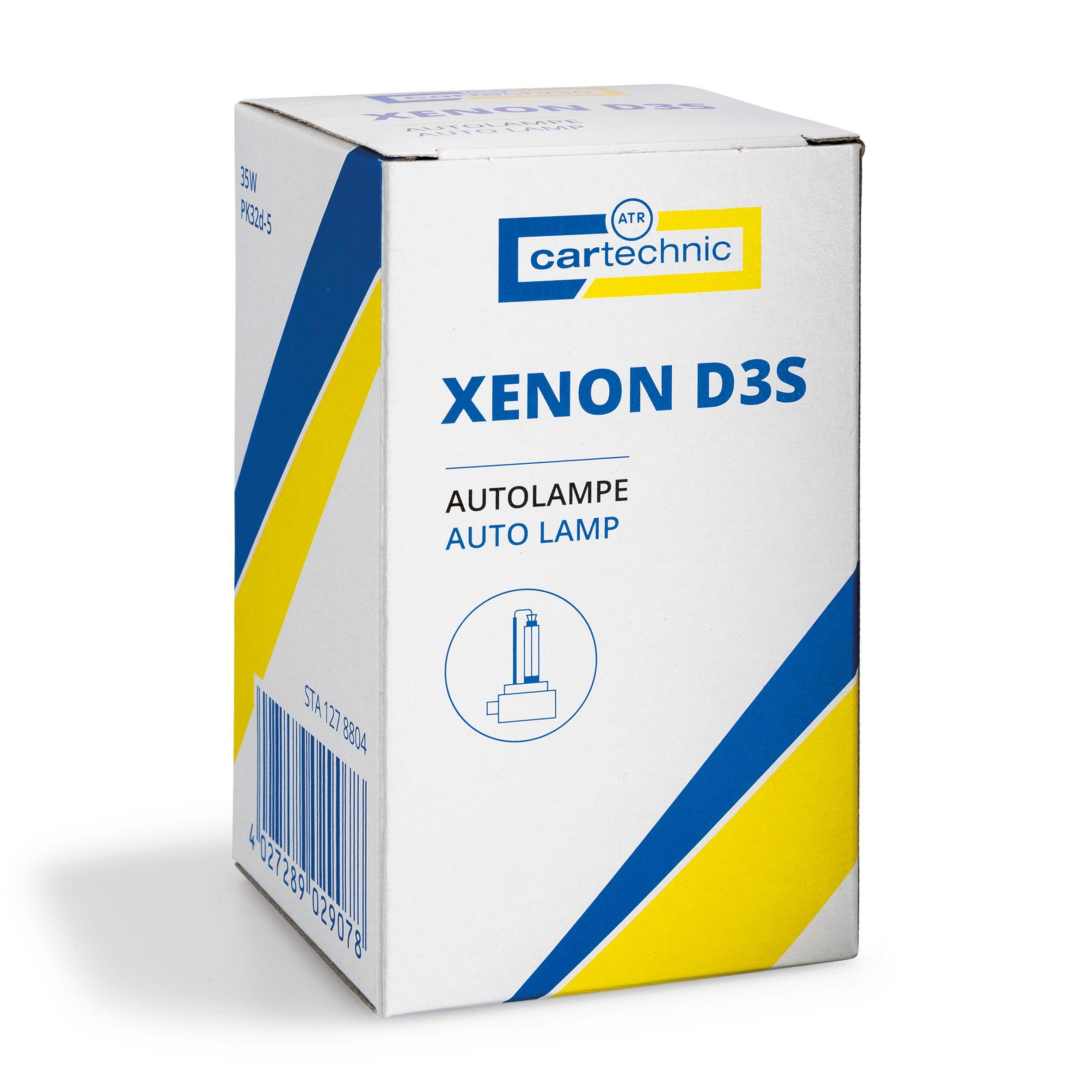 CARTECHNIC Gasentladungslampe D3S Xenon 42 Volt 35 Watt PK32d-5 40 27289 02907 8