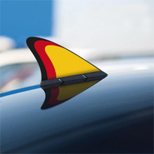 KAUFMANN ACCESSORIES Fanflosse Duetschland Magnetisch bis 180 km/h 19x14 WMINN 950