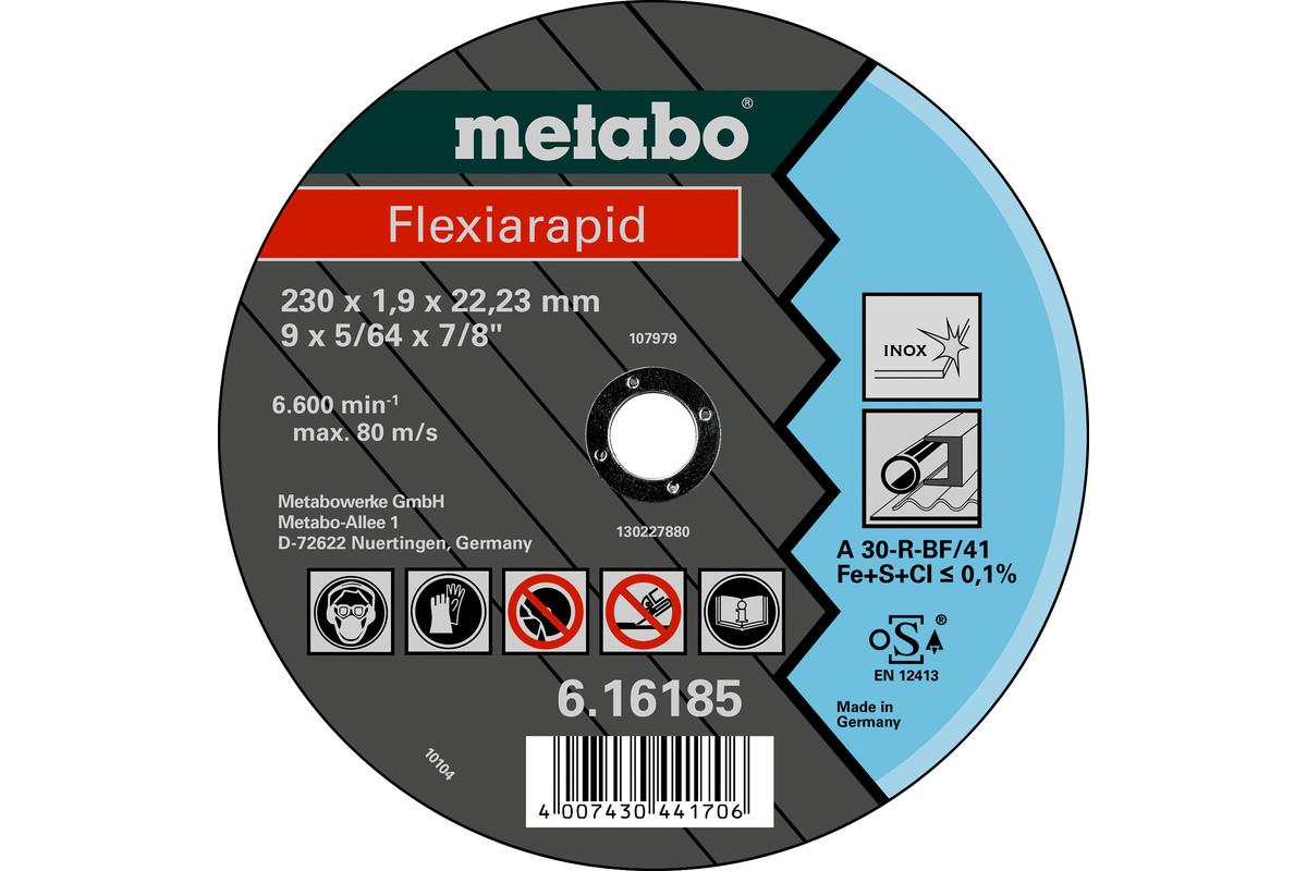 METABO Flexiarapid 230x1,9x22,23 Inox, Trennscheibe, gerade Ausführung (616185000) 616185000