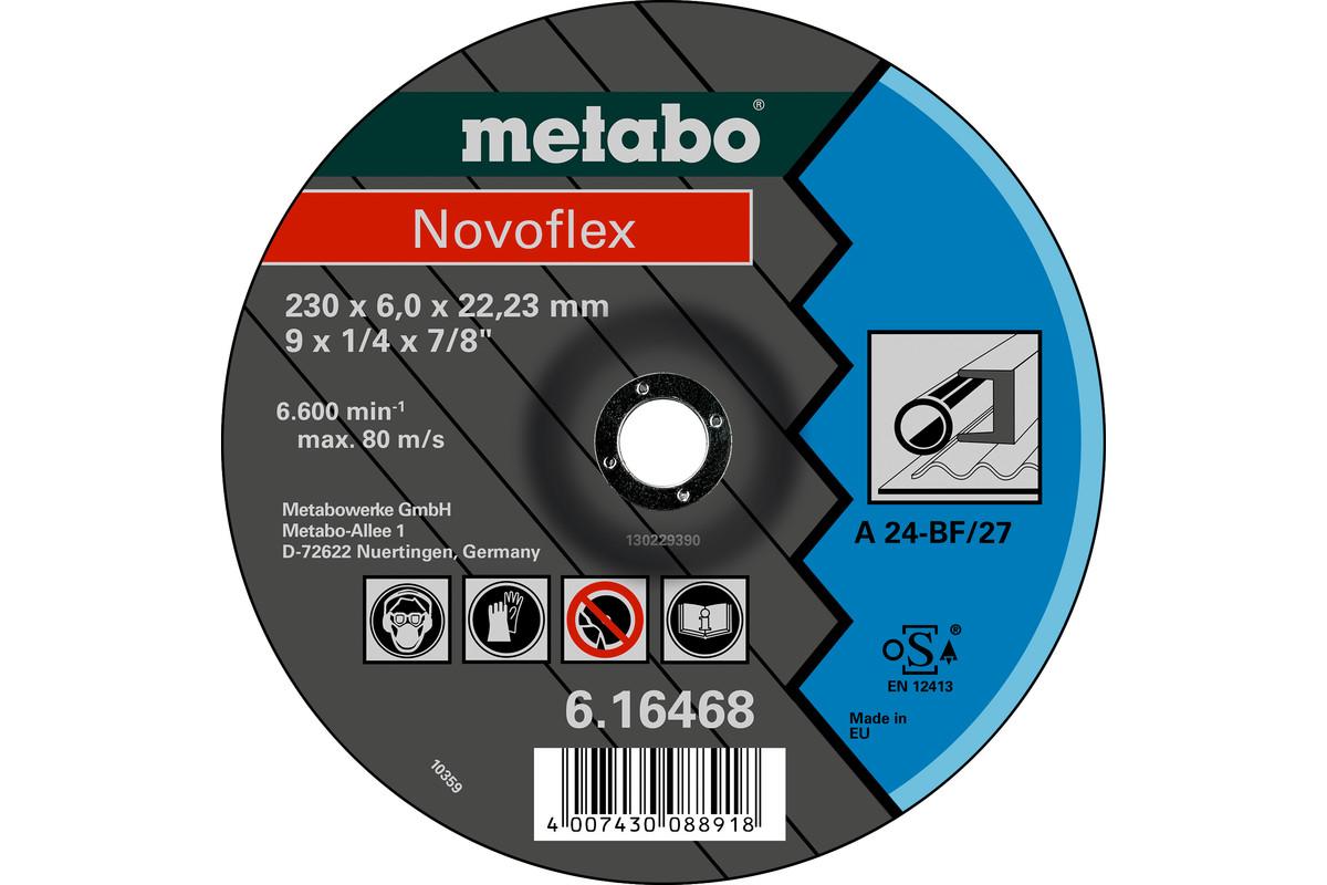 METABO Novoflex 125x6,0x22,23 Stahl, Schruppscheibe, gekröpfte Ausführung (616462000) 616462000
