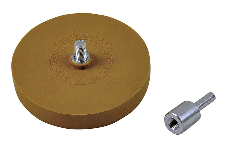 PROGLASS Eraser disc Ø 88 mm x 15 mm for removing adhesive residues KRS-1588