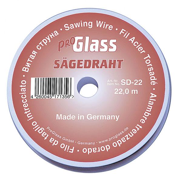 PROGLASS ProGlass SD saw wire, Ø 0.80 mm, 22 m on plastic spool SD-22