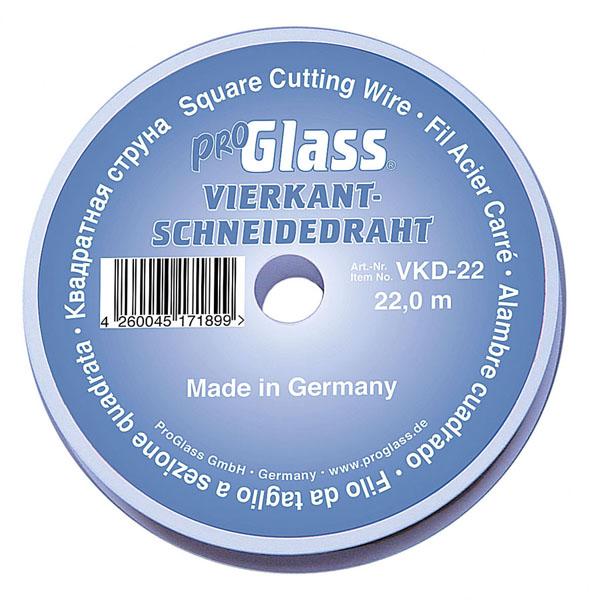 PROGLASS ProGlass cutting wire VKD, square 0.6 x 0.6 mm, 22 m on plastic spool VKD-22